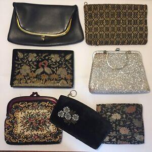 Vintage Evening Purse Bag Clutch Lot Of 7 Nice!