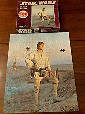 Vintage 1977 Star Wars Kenner Luke Skywalker 500 pc. Jigsaw Puzzle Near Complete