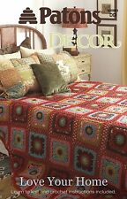Patons Knitting Pattern Book 500883 Love Your Home Decor Crochet & Knit NEW