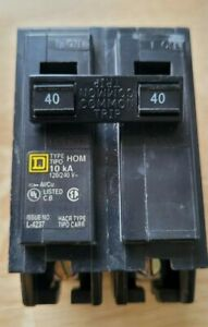 Square D HOM240 2 POLE 40 Amp 120/240V Circuit Breaker