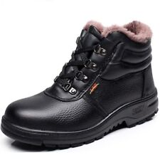 Mens Winter Snow Fur Lined Thicken Casual Ankle Boots Loafers Work Shoes Ske15