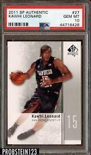2011 SP Authentic #27 Kawhi Leonard RC Rookie PSA 10 Clippers