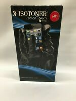 *NEW* Isotoner Men's Black Leather Gloves With SmartTouch Technology (Medium)
