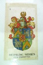 B.D.V. Cigarettes Silk- HERALDIC SERIES, No. 3 (Org*, apx. 7x4.5 cm)