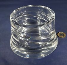 Cut crystal art glass large candle holder.