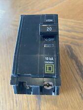 Square D Qob220 Circuit Breaker 20 Amp 2 Pole 120/240 Vac 10kA Type Qob Bolt On