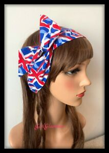 Union Jack Headband Hairband Hair Tie Band British England Flag Souvenirs Royal