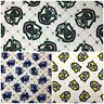 Harry Potter *CHOOSE DESIGN* Ravenclaw Slytherin Hufflepuff Quilting Fabric FQ