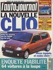 L'AUTO JOURNAL 1998 n°482 Renault Clio, VW Golf, Toyota Avensis, BMW Série 3