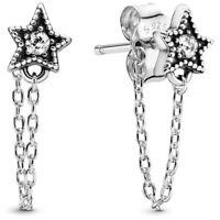 AUTHENTIC-GENUINE PANDORA Celestial Star Stud Earrings 298604C01