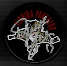 Dave Gagner Signed Florida Panthers Souvenir Puck