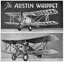 "Model Airplane Plans (FF): AUSTIN WHIPPIT 32""ws 1/8 Scale for .75cc (.049ci)"