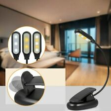 USB Rechargeable Table Reading Book Lamp Clip-On 3-Level LED Desk Light Dimmable