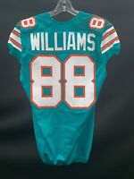 #88 BRANDON WILLIAMS MIAMI DOLPHINS GAME USED THROWBACK NIKE JERSEY YEAR 2015