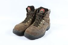 Vtg Red Wing Mens Size 10.5 Irish Setter Leather Lace Up Work Boots Dark Brown