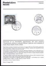 ITALIA 2009 CATTEDRALE DI RIETI BOLLETTINO COMPLETO DI FRANCOBOLLI ANNULLO FDC