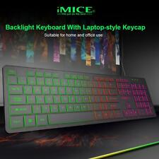 2019 IMICE USB Wired Backlight Gaming Keyboard 104 Keys Membrane Keyboard for PC