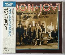 Wie NEU Bon Jovi Wanted Dead Or Alive Rare Japan Gold CD Video CDV 24VP-7