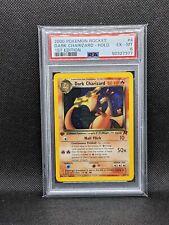 Dark Charizard 21/82 Team Rocket 1st Edition Holo Rare Pokemon PSA 6 EX-MT