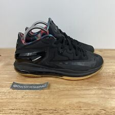 Nike Lebron Max 11 Low Basketball Sneakers Black Gum Size 7Y Youth 644534-003