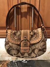 Vintage Coach G063-10484 Jacquard Studded Soho Handbag - Excellent Condition