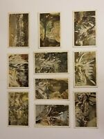 Lot of 10 Vintage Ohio Caverns Postcards Curteich Grotto Arctic Plateau Flowery
