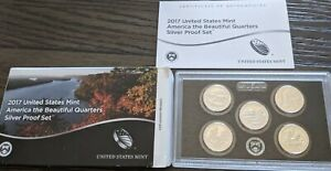2017 Silver US Mint America the Beautiful Quarters Silver Proof Set of 5