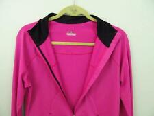 Under Armour Pink Zip Jacket M 38 Bust All Season Pockets Black Contrast Fast