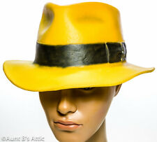 Vintage Cinema Secrets Dick Tracy Fedora Hat Yell Molded Rubber Character Hat