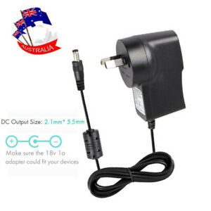 100-240V AC /DC 18V 1A 5.5x2.1mm Power Supply Adapter Wall Charger Cord Cable AU