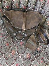 Henry Beguelin Metalic Brown Crossbody O-Ring Saddle Bag