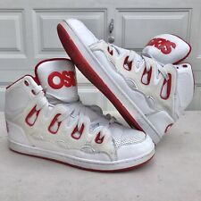 Osiris Men's D3h Skate Shoe White Red Sz13 Skateboard