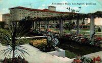 Ambassador Hotel Los Angeles California CA Vintage 1910's 1920's Postcard