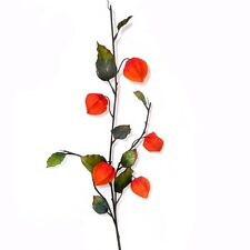 79cm Artificial Chinese Lantern Spray / Stem / Branch - Autumn - Physalis