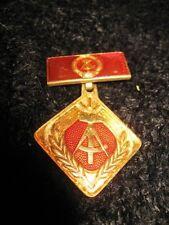 GDR German Democratic Republic Military Pin Emblem Socialist Inscription DDR