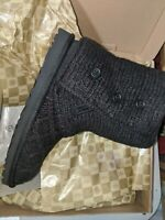 UGG AUSTRALIA CARDY LATTICE KNIT Winter Fall Boots Womens Size 6 NEW BLACK