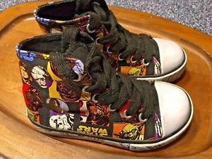 Disney Kids Boys Girls STAR WARS hitop hi top shoes SO CUTE Very Nice size 8