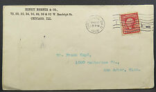 Henry Horner & Co 1906 Chicago Series 1902 Stamp - Stempel Post Brief (Lot A3980