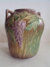 Vintage Original Roseville Wisteria 634-7 Gourd-Shaped Vase. With Orig. Sticker.