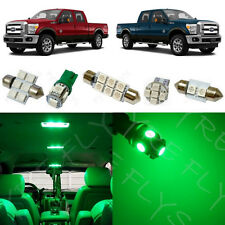 7x Green LED lights interior package kit for 2011-2015 Ford Super Duty FS2G