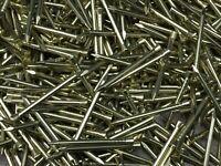 """50gr  sizes.5//8th Brass Panel Pins NETTLEFOLDS 3//4/"""".1/"""",1/""""1//4,11//2./""""FREEPOST"""