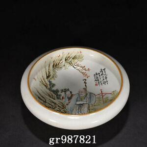 """8.7"""" Republic China dynasty Porcelain famille rose elderly child Brush Washer"""