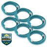 """6pc 6' Braided Airbrush Air Hose 1/8"""" to 1/8"""" BSP Adaptor Fits Most Brands"""