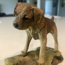 Vintage Teviotdale Border Terrier Sculpture By Tom Mackie Harwick Scotland