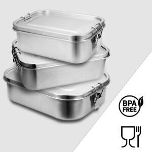 800-1400ml Brotdose Metall Brotdose Thermobehälter Lunchbox BPA frei Edelstahl