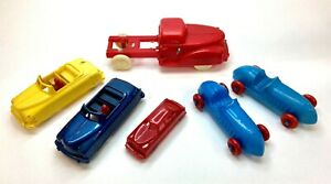 VINTAGE RENWAL TOY RACE CARS, CONVERTABLE CARS AND TRUCK LOT of 6