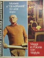 CORRIERE DELLA SERA ILLUSTRATO N.20 1979 MORAVIA WOJTYLA