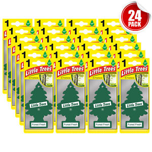 Little Trees Air Freshener Car Home Office Scent Hanging Forest Fresh 24-Pack