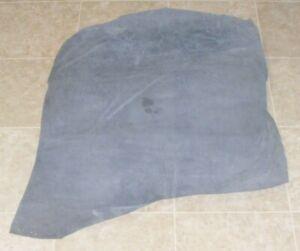 (YYE9002-9) Hide of Blue Grey Pig Suede Leather Hide Skin