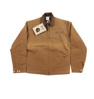 NOS Vtg 90s Carhartt Mens 38 Tall Blanket Lined Detroit Jacket Duck Brown USA